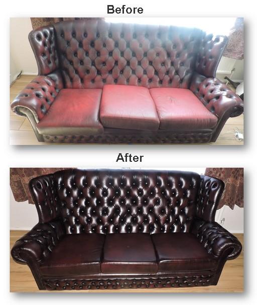 Leather Sofas Preston Lancashire: Leather Chesterfields Restored